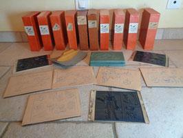 Lot de timbres éducatifs 60's
