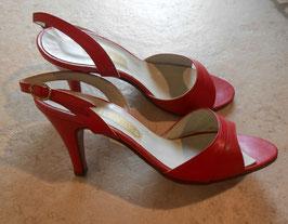 Sandales rouges 50's P.35