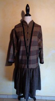 Robe laine Lanvin 70's T.40