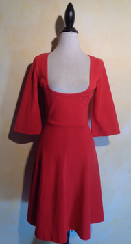 Robe jersey rouge 60's T.38