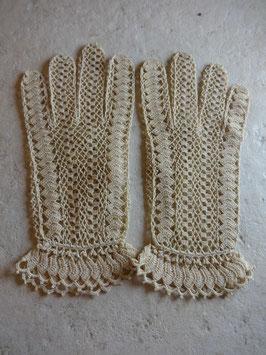 Gants crochet beiges 40's