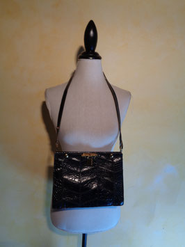 Pochette cuir noire 70's