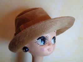 Chapeau feutre de poil camel