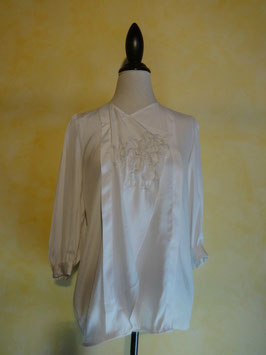 Corsage blanc 70's T.36