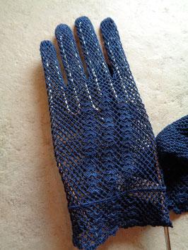 Gants crochet bleus