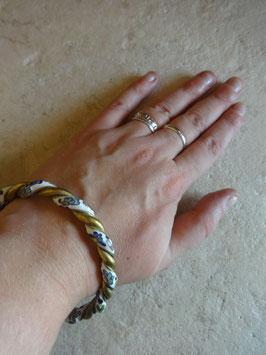 Bracelet émail torsadé