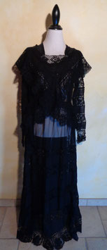 Robe dentelle 1900 T.38