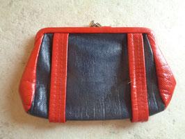 Porte monnaie bleu et rouge