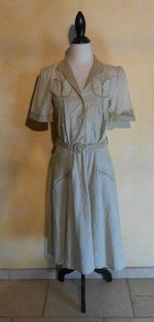 Robe rayée 50's T.40