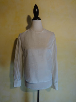 Blouse blanche 50's T.36