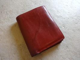 Porte monnaie en cuir rouge le Tanneur