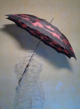 Parapluie fleuri 60's