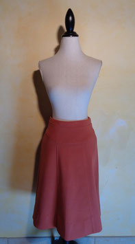 Jupe jersey rouille 60's T.36