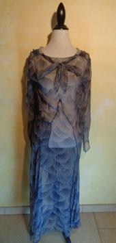 Robe mousseline de soie 1910 T.38
