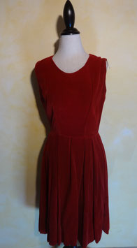 Robe velours rouge T.38