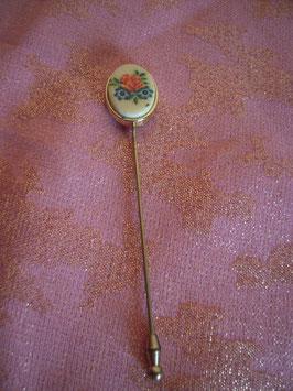 Epingle chapeau fleur 70's