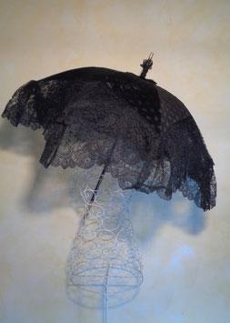 Ombrelle dentelle noire 1900