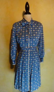 Robe losanges bleus 70's T.36