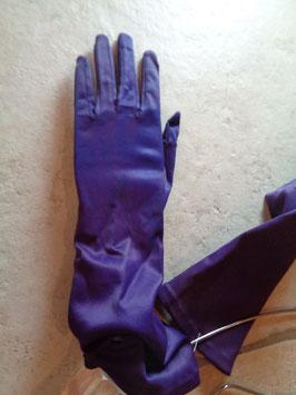 Gants violets