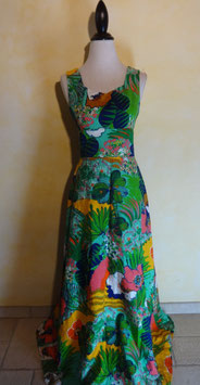 Robe tropicale 70's T.36