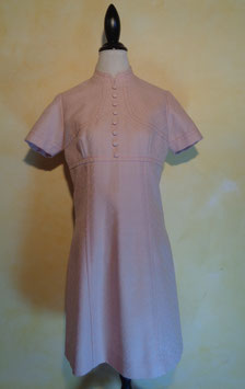 Robe rose laine 60's T.40