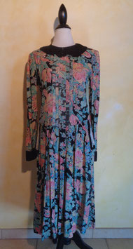 Robe coton fleuri T.40