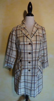 Manteau à carreaux 60's T.36