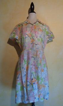 Robe fleurie arty 60's T.40