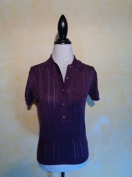 Polo violet 70's T.36