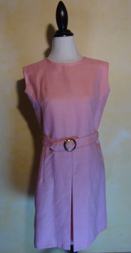 Robe laine rose 60's T.38