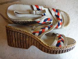 Sandales tissu 70's P.40
