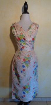 Robe soie fleurie 60's T.36