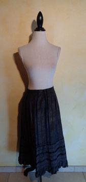 Jupon coton noir 1900 T.U