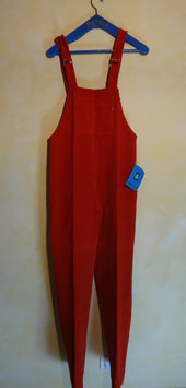 Salopette velours rouge 70's T.36