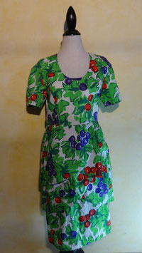 Robe fruits 90's T.38