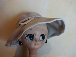 Chapeau laine beige