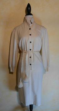 Robe laine blanche 70's T.40
