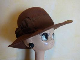 Chapeau marron 70's