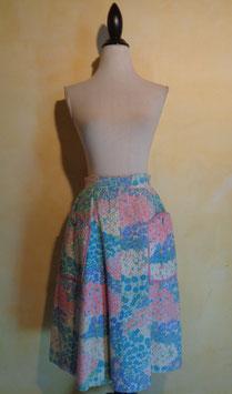 Jupe pastel fleurs 60's T.36