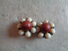Clips à perles 70's