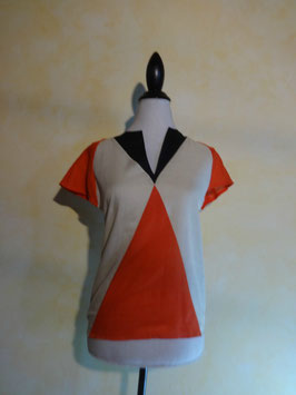 Top graphique orange 70's T.36