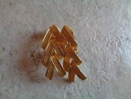 Clips tressés dorés
