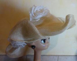 Chapeau cortège en paille