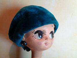 Béret turquoise 60's