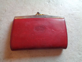 Porte monnaie rouge cuir
