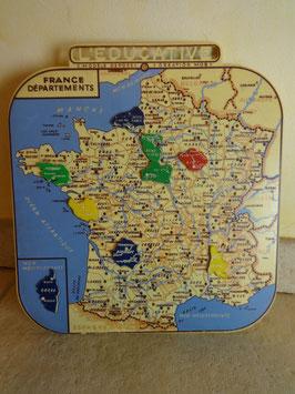 Carte de France des régions 50's