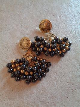 Clips panache de perles