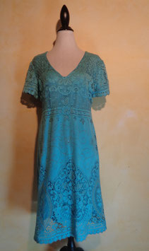 Robe crochet bleu 70's T.40