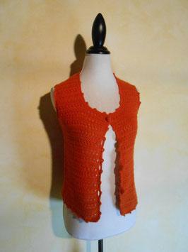 Gilet crochet 70's T.36