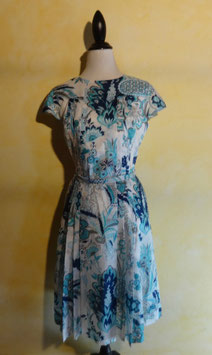 Robe turquoise 70's T.36